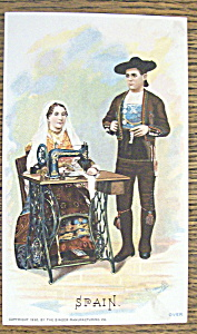 Spain Couple (Singer Trade Card) World Columbian Expo (Image1)