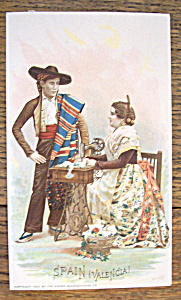 Man & Woman From Spain (Singer Trade Card)