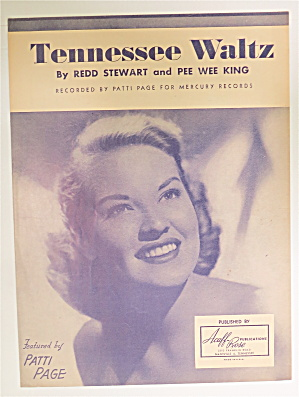 Sheet Music For 1948 Tennessee Waltz