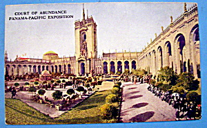 Court of Abundance, Panama Pacific Exposition Postcard (Image1)