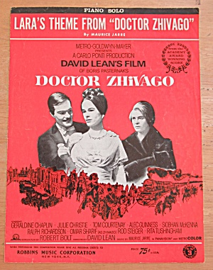 Sheet Music For 1965 Lara's Theme From Doctor Zhivago