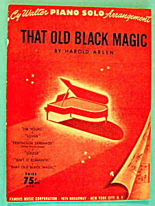 Sheet Music For 1949 That Old Black Magic