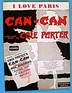 Sheet Music For 1953 I Love Paris By Cole Porter