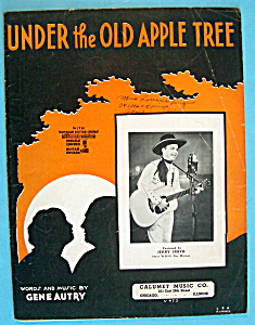 Sheet Music For 1932 Under The Old Apple Tree
