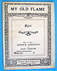 Sheet Music For 1934 My Old Flame
