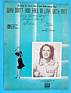 1942 Why Don't You Fall In Love With Me /lewis & Wayne