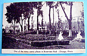 Riverview Park Scenic Place Picture Postcard (Chicago) (Image1)