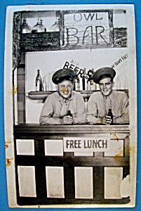 Two Soldiers In Bar Scene Picture Postcard (San Diego) (Image1)