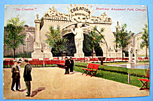Postcard Of Riverview Park The Creation, Chicago (Image1)