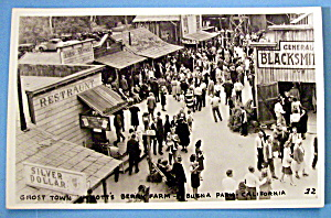 Postcard Of Ghost Town, Knott's Berry Farm, Calif.
