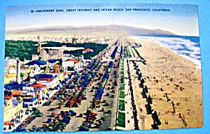 Postcard Of Amusement Zone, San Francisco, California (Image1)