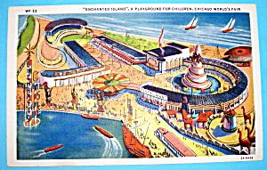Enchanted Island Postcard (1933 Chicago Fair) (Image1)