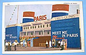 Streets Of Paris Postcard (1933 Chicago Fair) (Image1)