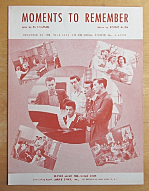 Sheet Music For 1955 Moments To Remember