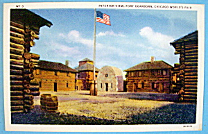 Fort Dearborn (Interior View) Postcard-chicago Fair