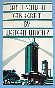 Western Union Brochure (Chicago World's Fair) (Image1)