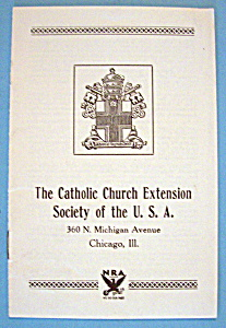 Catholic Church Brochure (1933 Century Of Progress) (Image1)