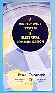 1933 Century Of Progress, Postal Telegraph Brochure