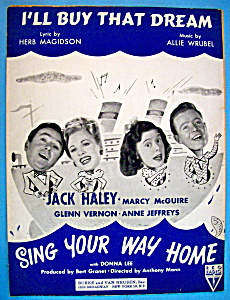 1945 I'll Buy That Dream (Sing Your Way Home Cover)