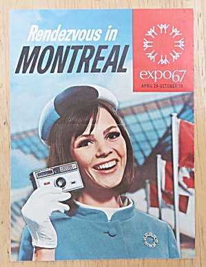 1967 Expo Rendezvous In Montreal Brochure