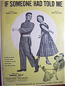 Sheet Music For 1952 If Someone Had Told Me