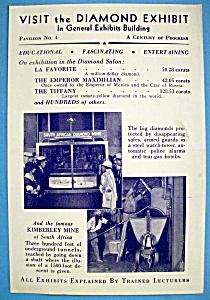 Diamond Exhibit Brochure (Chicago World's Fair) (Image1)