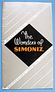 1933 Century Of Progress, Wonders Of Simoniz Brochure (Image1)