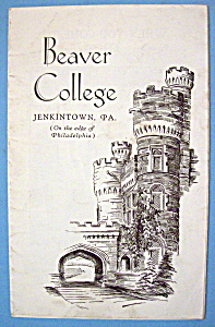 1933 Century Of Progress, Beaver College Brochure (Image1)