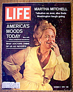 Life Magazine October 2, 1970 Martha Mitchell