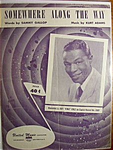 Sheet Music For 1952 Somewhere Along The Way