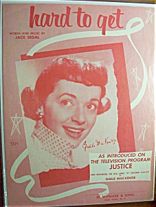 Sheet Music For 1955 Hard To Get