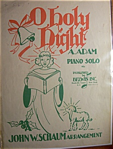 Sheet Music For 1943 O Holy Night