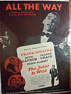 Sheet Music For 1957 All The Way
