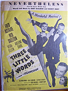 Sheet Music For 1931 Nevertheless I'm In Love With You