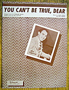 Sheet Music For 1948 You Can't Be True, Dear