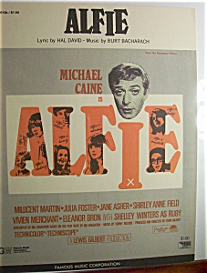 Sheet Music For 1966 Alfie