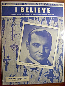 Sheet Music For 1953 I Believe