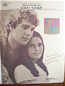 Sheet Music For 1971 (Where Do I Begin) Love Story