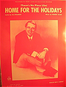 Sheet Music For 1954 Home For The Holidays