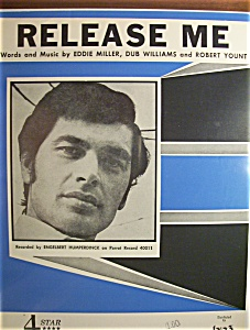 Sheet Music For 1954 Release Me