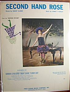 Sheet Music For 1965 Second Hand Rose