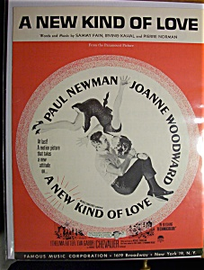 Sheet Music For 1963 A New Kind Of Love