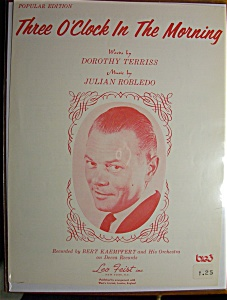 Sheet Music For 1965 Three O' Clock In The Morning