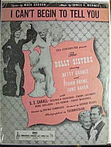 Sheet Music/1945 I Can't Begin To Tell You-Mack Gordon (Image1)