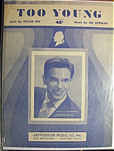 Sheet Music For 1951 Too Young (Richard Hayes)
