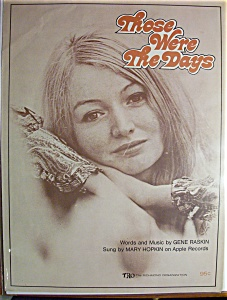 Sheet Music For 1968 Those Were The Days