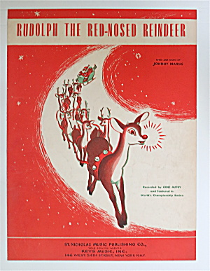 Sheet Music For 1949 Rudolph The Red - Nosed Reindeer