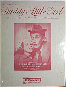Sheet Music For 1949 Daddy's Little Girl