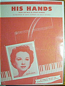 Sheet Music For 1954 His Hands