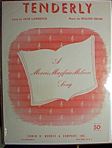 Sheet Music For 1946 Tenderly By Walter Gross (Image1)